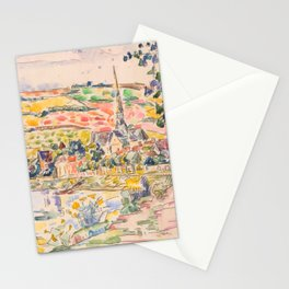 """Paul Signac """"Petit Andely-The River Bank"""" Stationery Cards"""