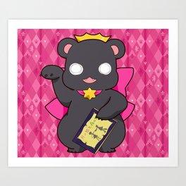 Lily Bear Ginko Art Print