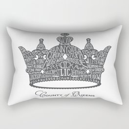County of Queens | NYC Borough Crown (GREY) Rectangular Pillow