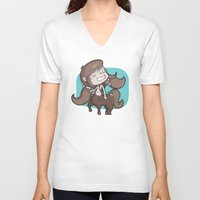 sagittarius V-neck T-shirts featuring Sagittarius by Chiara Zava