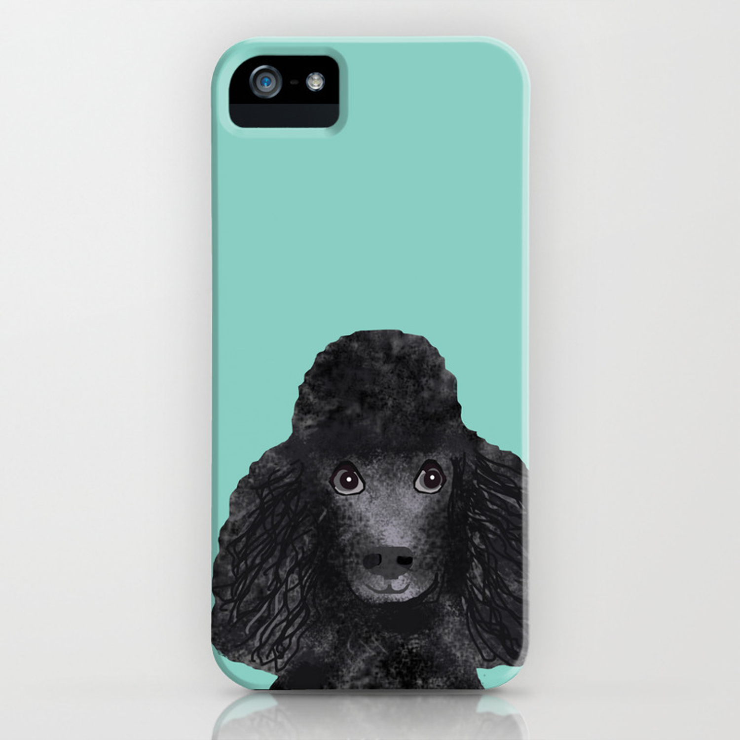 Toy Poodle Black Pet Portrait Custom Dog Art Breeds By Friendly Iphone Case Petfriendly Society6