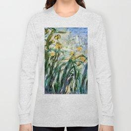 """Claude Monet """"Yellow Irises and Malva"""", 1914 - 1917 Long Sleeve T-shirt"""