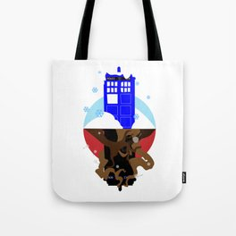 Upside Down Time Travel Tote Bag