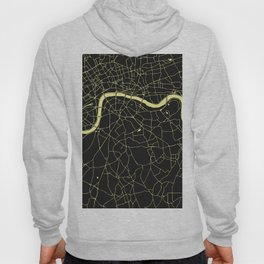London Black on Yellow Street Map Hoody
