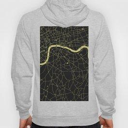 London Black on Yellow Street Map Hoody
