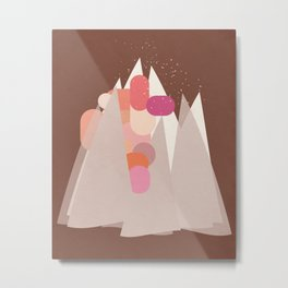 Party In The Mountains//Two Metal Print