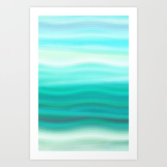Green Mirage Art Print