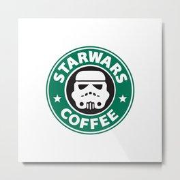StarWars Coffee Metal Print