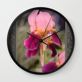 Tall Bearded Iris named Indian Chief Wall Clock