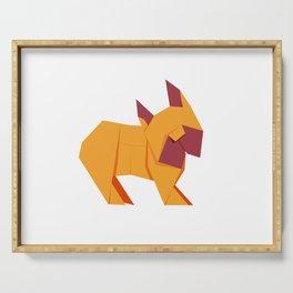 Origami French Bulldog Serving Tray