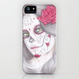 Dia De Los Muertos - Rose iPhone Case