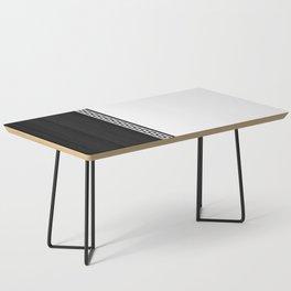 Greek Key 2 - White and Black Coffee Table