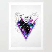 ruben ireland Art Prints featuring Heart Of Glass - Kris Tate x Ruben Ireland by Ruben Ireland