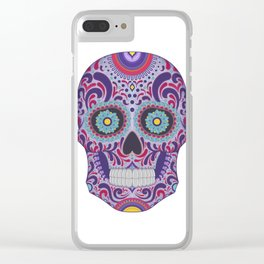 Colorful Catrina Clear iPhone Case