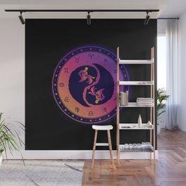 Aquarius Eleventh Zodiac Sign Yin Yang Wall Mural