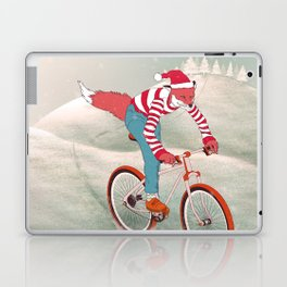 rushing home for christmas Laptop & iPad Skin