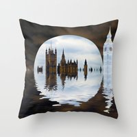 politics Throw Pillows featuring Manipulated Politics by Shalisa Photography