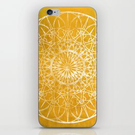 Fire Blossom - Yellow iPhone Skin