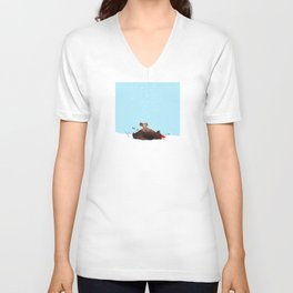 Brown Bear and Squirrel Unisex V-Neck
