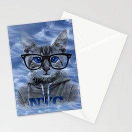 NY Cat and Blue Sky Stationery Cards