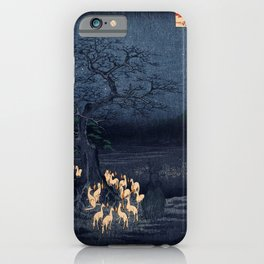 Utagawa Hiroshige New Year's Eve Foxfires at the Changing Tree iPhone Case