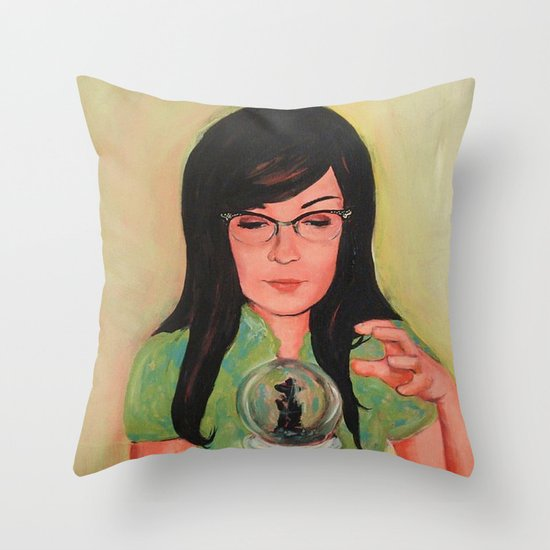Future Is Uncertain Throw Pillow