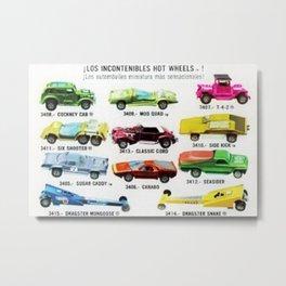 Ultra Rare Vintage Mexico Issue CIPSA Hot Wheels Redline Poster Metal Print