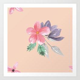 Floral vintage Pattern Art Print