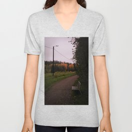 Cloudy autumn day Unisex V-Neck