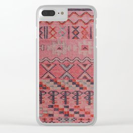 V21 New Traditional Moroccan Design Carpet Mock up. Clear iPhone Case