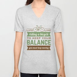 Bike Quote Unisex V-Neck