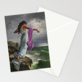Death of the Tenth Muse Poetess Sappho at Leucadian cliffs by Miguel Carbonell Selva Stationery Cards