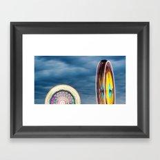 Round We Go Framed Art Print