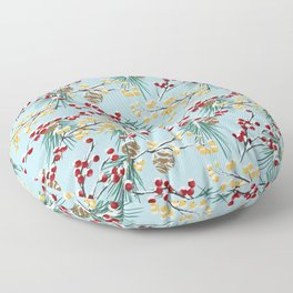 Winterberries Floor Pillow