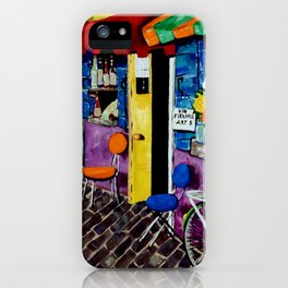 Artist Avenue French France Paris Art Shops Flowers Wine Doors Shutters Street Homes Bike Bicycle iPhone Case