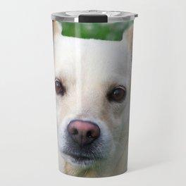 Blond dog portrait Travel Mug