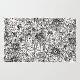 pencil flowers Rug