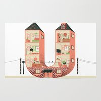 letter Area & Throw Rugs featuring Letter U by Margarida Esteves