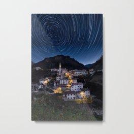 Giazza Star Trail Metal Print