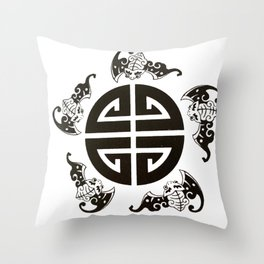 Chinese 5 blessings symbol Throw Pillow