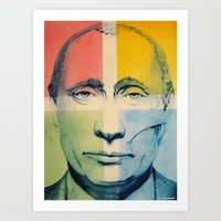 putin Art Prints featuring Putin by Thomas DesJardins