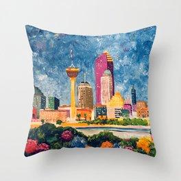 San Antonio Celebration Throw Pillow