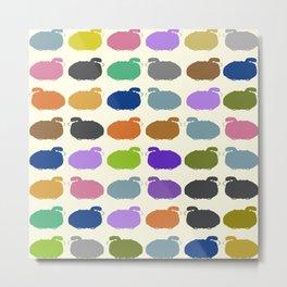Colorful cartoon sheep pattern Metal Print
