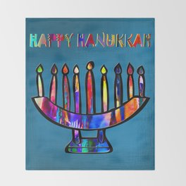 Happy Hanukkah! Throw Blanket