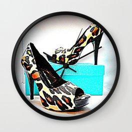 Shoe Lust #2 Leopard Print Wall Clock