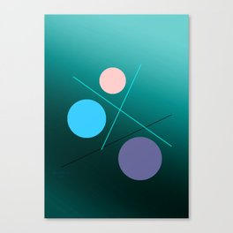 The 3 dots, power game 11 Canvas Print