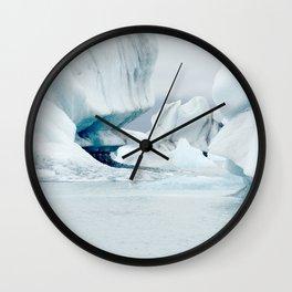 Iceberg blue lagoon Icelandic travel photography Wall Clock