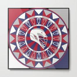 Lacrosse Shakey Dartboard Metal Print