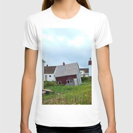 Lighthouse and shacks in North-Rustico PEI T-shirt