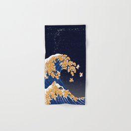 Shiba Inu The Great Wave in Night Hand & Bath Towel